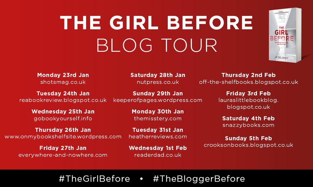 #TheBloggerBefore Blog Tour | Book Review: The Girl Before by JP Delaney #TheGirlBefore
