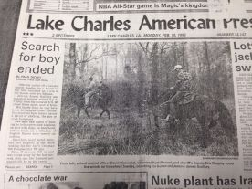 Searching the woods (from American Press newspaper)