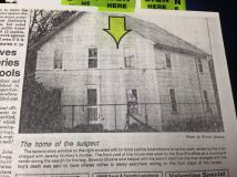 The home of the suspect (from American Press newspaper)