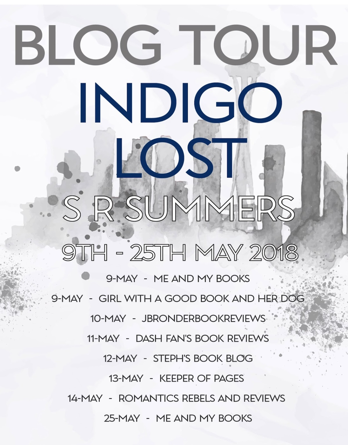 Blog Tour | Book Review: Indigo Lost by S R Summers (Infinity Squared Series #1)
