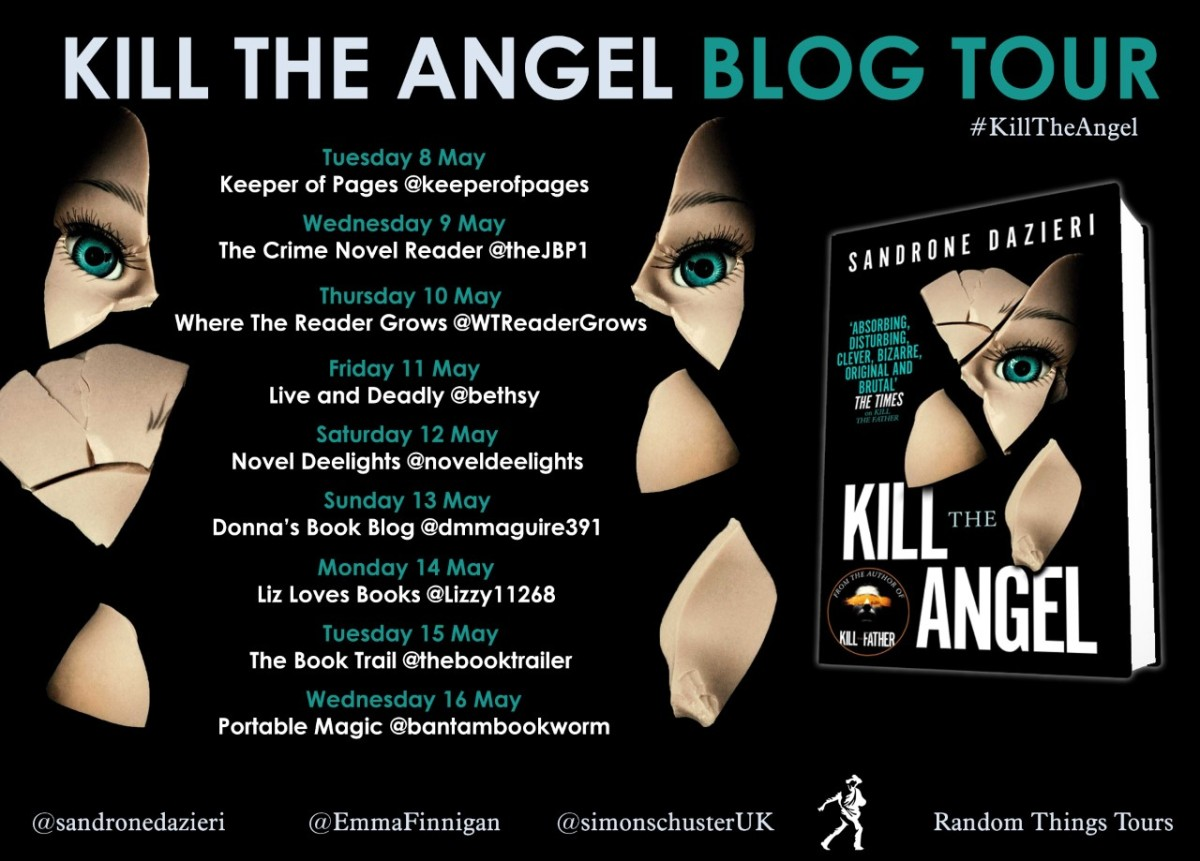 Blog Tour | Book Review: Kill the Angel by Sandrone Dazieri (Torre and Caselli #2) #RandomThingsTours