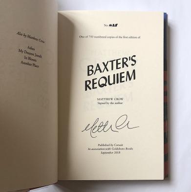 Baxter's Requiem - signed