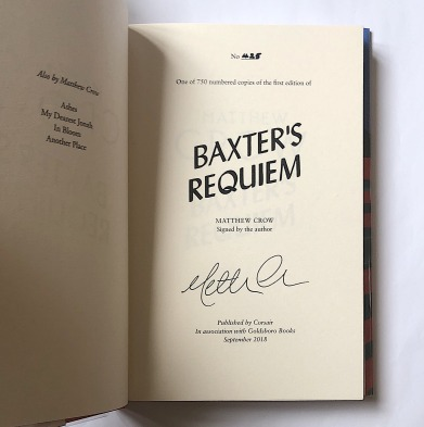 Baxter's Requiem - signed