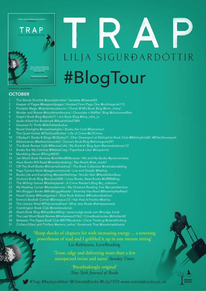 Trap Blog Tour Poster